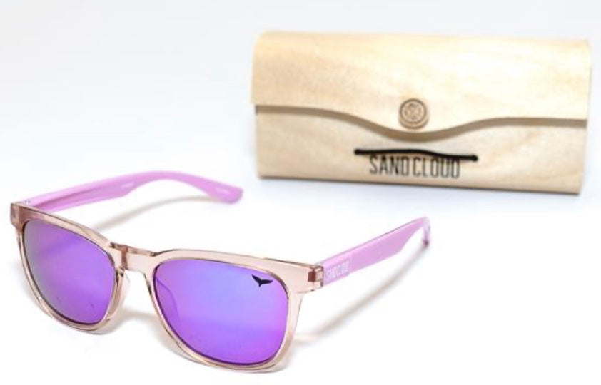 RECYCLED SUNGLASSES PINK/PURPLE - MARINE CONSERVATION