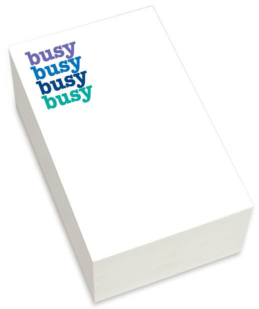 CHUNKY NOTEPAD - BUSY
