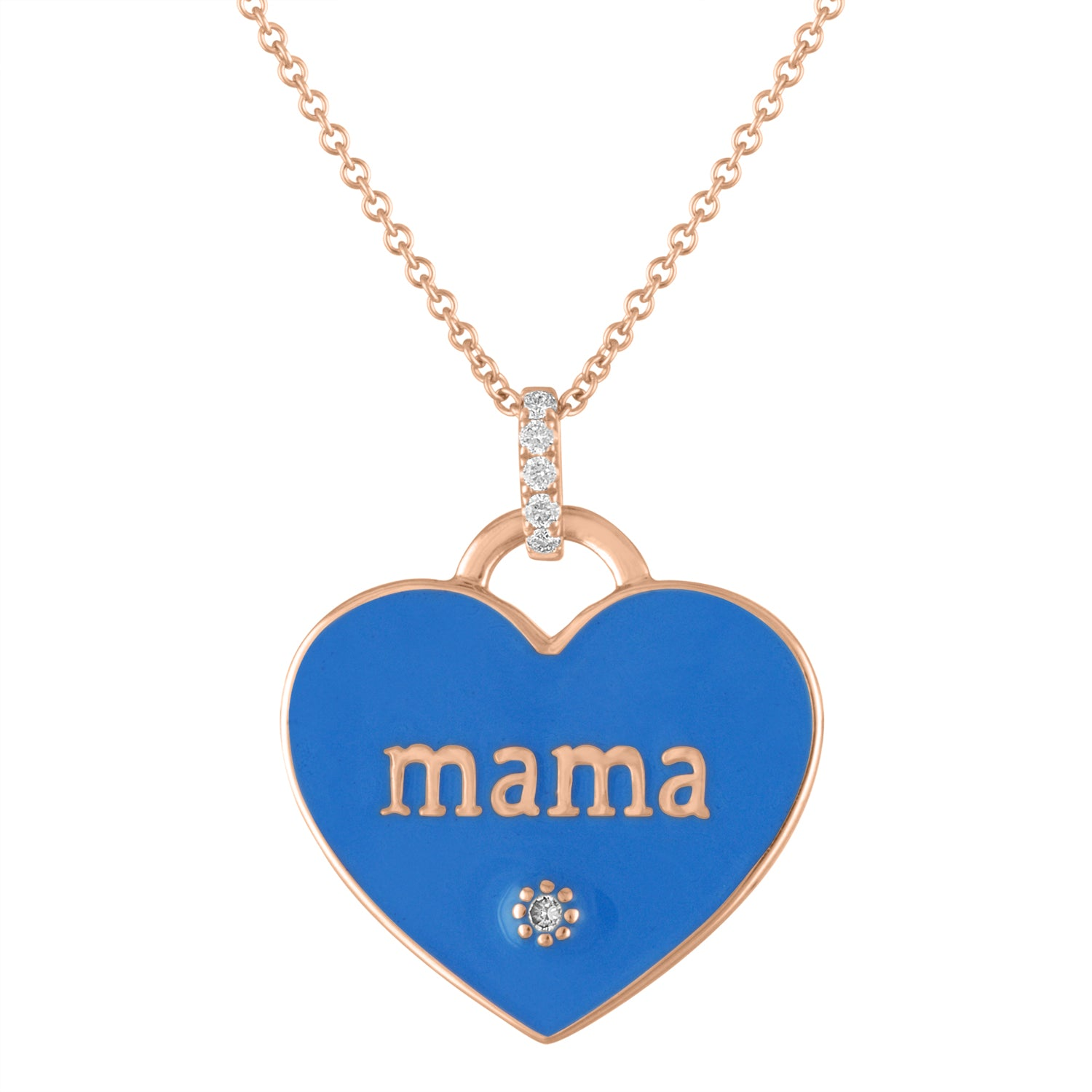 MAMA BLUE ENAMEL NECKLACE