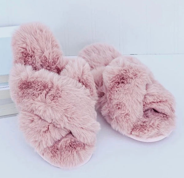 SLIPPERS PINK - TYPE 1 DIABETES SIZE 9-10