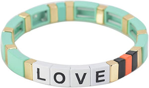 BRACELET- MINT GREEN LOVE