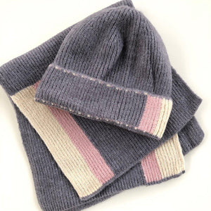 SCARF AND BEANIE GREY - TYPE 1 DIABETES
