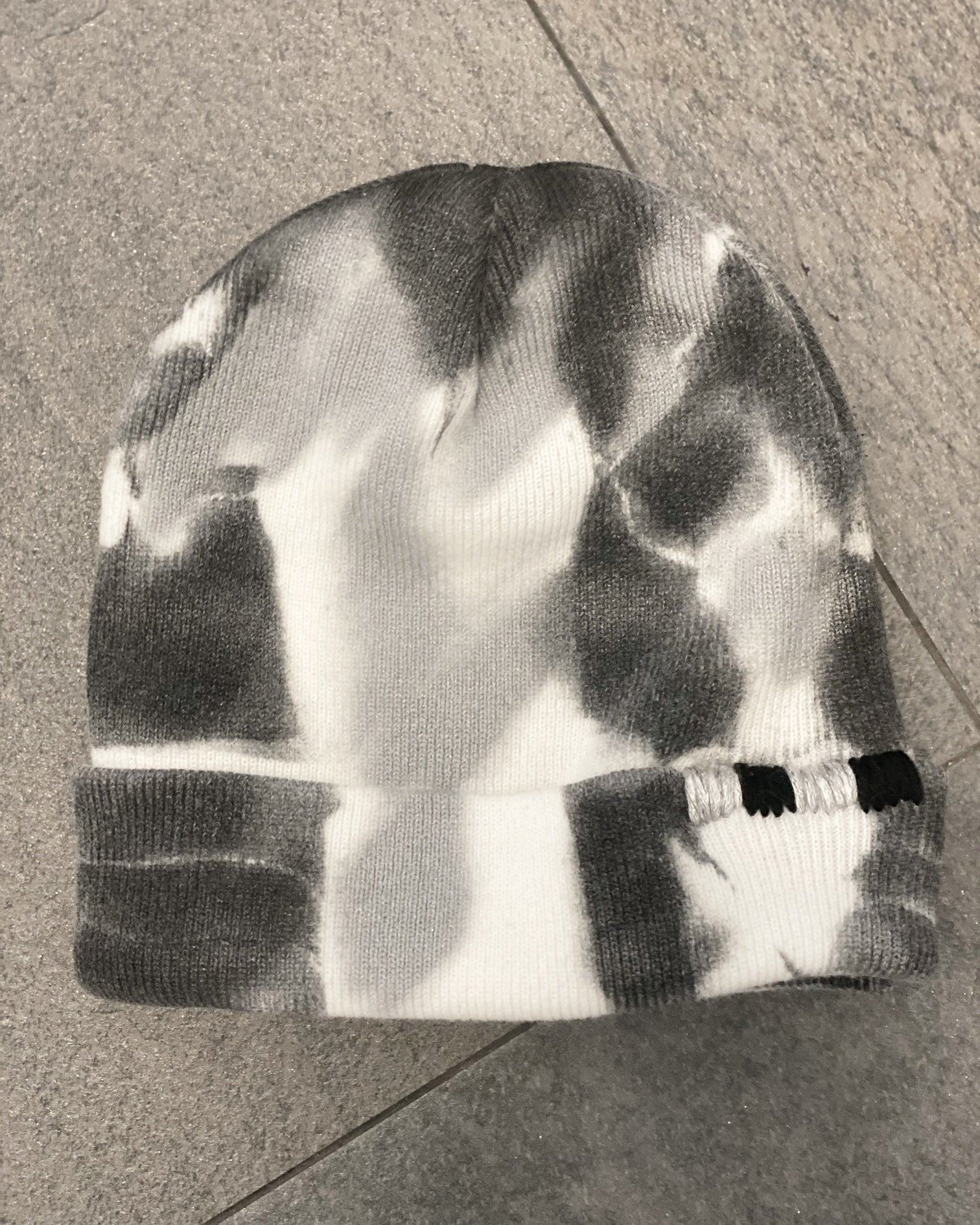 HAT - SPRAY PAINTED BLACK GREY PW
