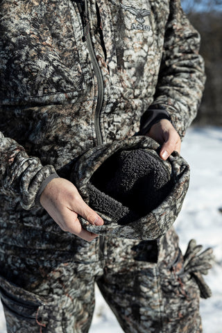 sherpa lined hunting beanie