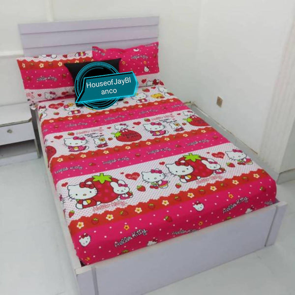 Hello Kitty fitted Sheet & 2 pillow cases