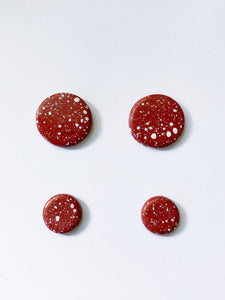 Red Ochre Stud Earrings