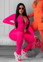 Two Piece Tracksuit Set Fall Winter Sexy Neon Orange Outfits for Women Sweat Suit Hoodie and Sweatpants. 30 days delivery. sweats