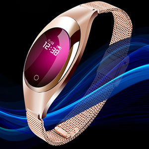 Intelligent Women Fashion Band Smart bracelet Blood Pressure Heart Rate Monitor Pedometer Fitness Tracker Watch FOR Android IOS