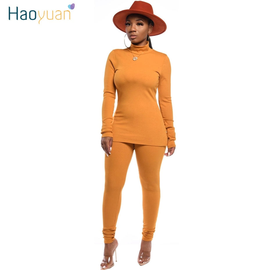 Knit Two Piece Set Tracksuit Women Clothing Long Sleeve Top Pant Sweat Suits 2 Piece Fall Winter Outfits Matching Sets. 30 days delivery.  dresses