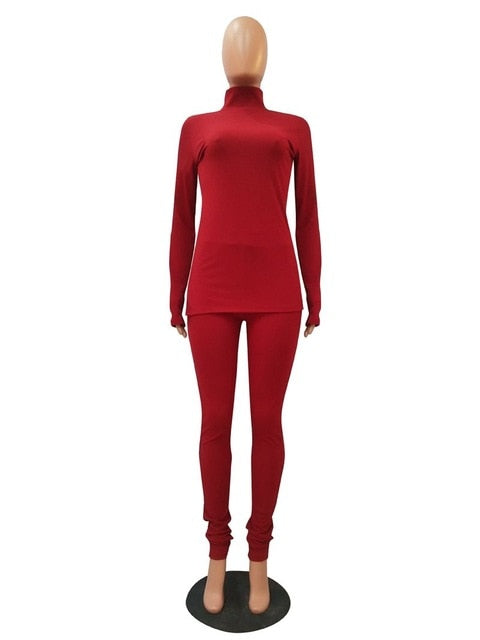 Knit Two Piece Set Tracksuit Women Clothing Long Sleeve Top Pant Sweat Suits 2 Piece Fall Winter Outfits Matching Sets. 30 days delivery.