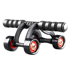 Abdominal Wheel Ab Roller with Four Wheels Abdomen Trainer Rolling Wheel Sports Exercise Fitness Equipment for Men and Women