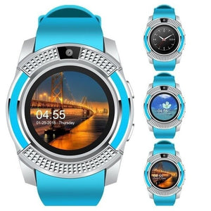 Fashion Men Smart Watch Bluetooth Touch Screen Android Waterproof Sports and Women Smartwatch with Camera SIM Card Slot Watch