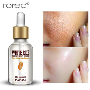 White Rice Whitening Serum Face Moisturizing Cream Anti Wrinkle Anti Aging For Face Fine Lines Acne Treatment Skin Care 15ml