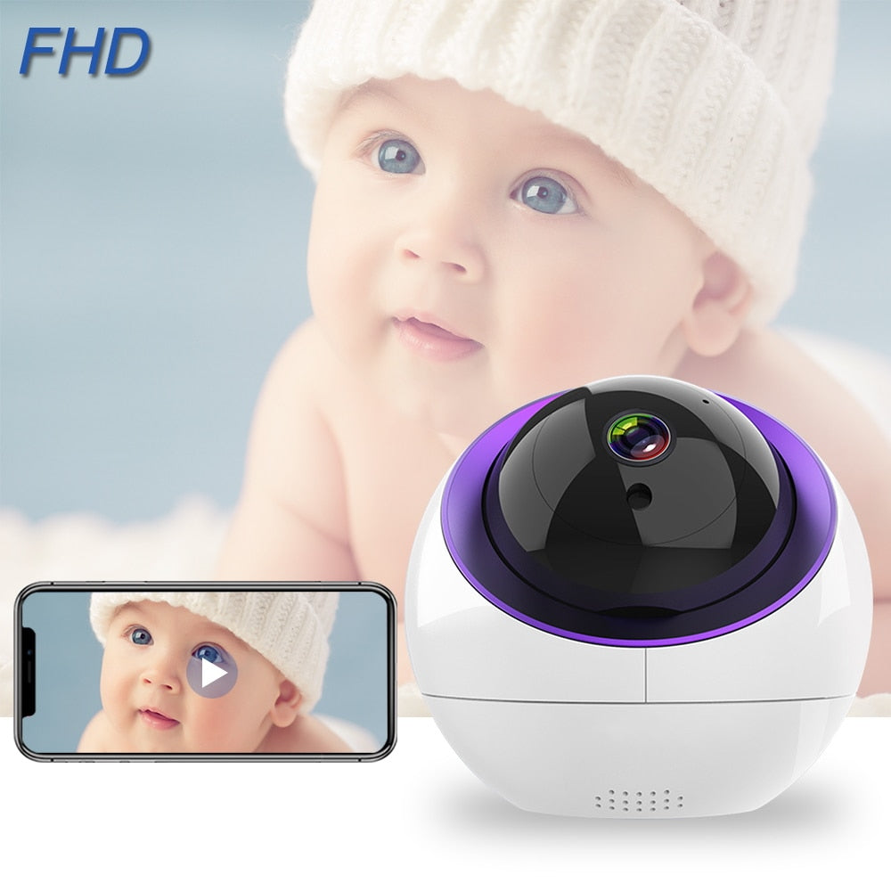 Baby Monitor With Camera FHD 1080P IP Camera WiFi IR Night Vision Two Way Audio Alarm Baby Sleeping Nanny Cam Baby Video Monitor