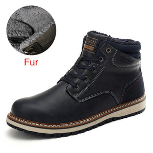 2020 New Snow Boots Protective and Wear-resistant Sole Man Boots Warm and Comfortable Winter Walking Boots Big Size 7-12.5