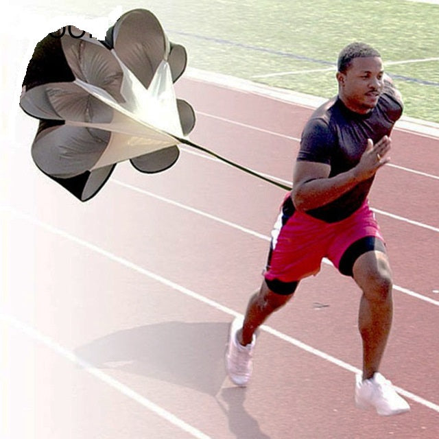 Adjustable Speed Training Resistance Umbrella Waist Belt Sports Running Parachute Athletics Strength Fitness Exercise Equipment 28 days delivery