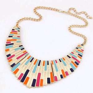 IPARAM 2019 New Women Men Jewelry Punk  Fanshaped Torques Enamel Statement Necklaces Pendants