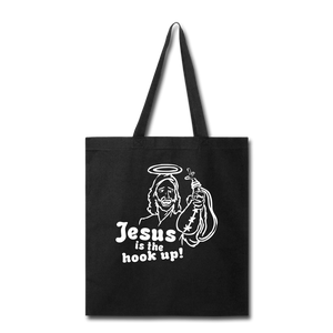 Jesus is the hook up Tote Bag - black