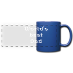 Full Color Panoramic Mug  (World's best dad) - royal blue