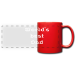 Full Color Panoramic Mug  (World's best dad) - red