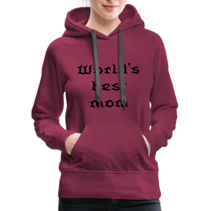 Women's Premium Hoodie Sweat - burgundy