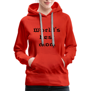 Women's Premium Hoodie Sweat - red