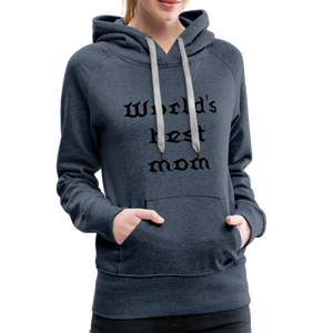 Women's Premium Hoodie Sweat - heather denim