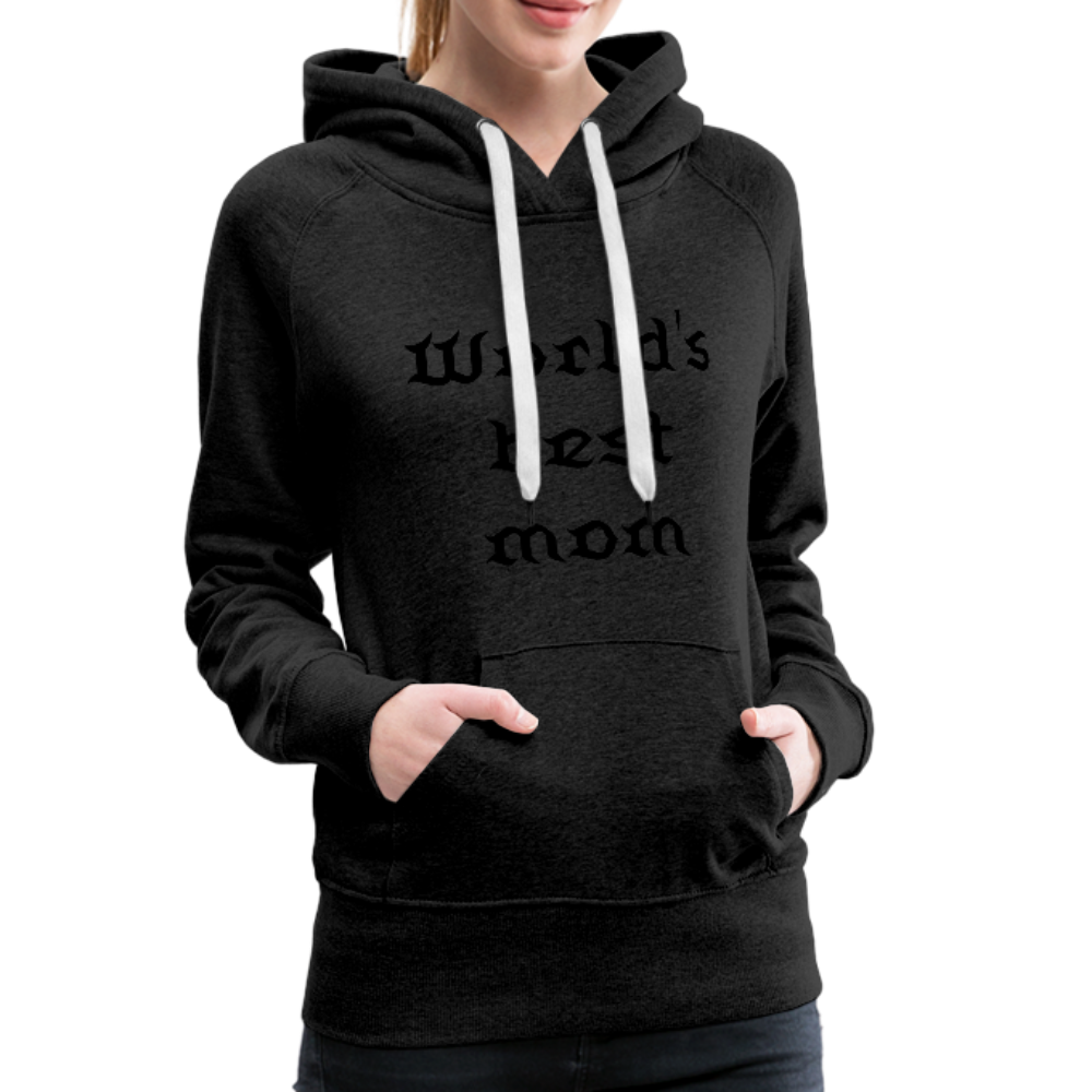 Women's Premium Hoodie Sweat - charcoal gray
