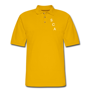 Men's Pique Polo Shirt - Yellow
