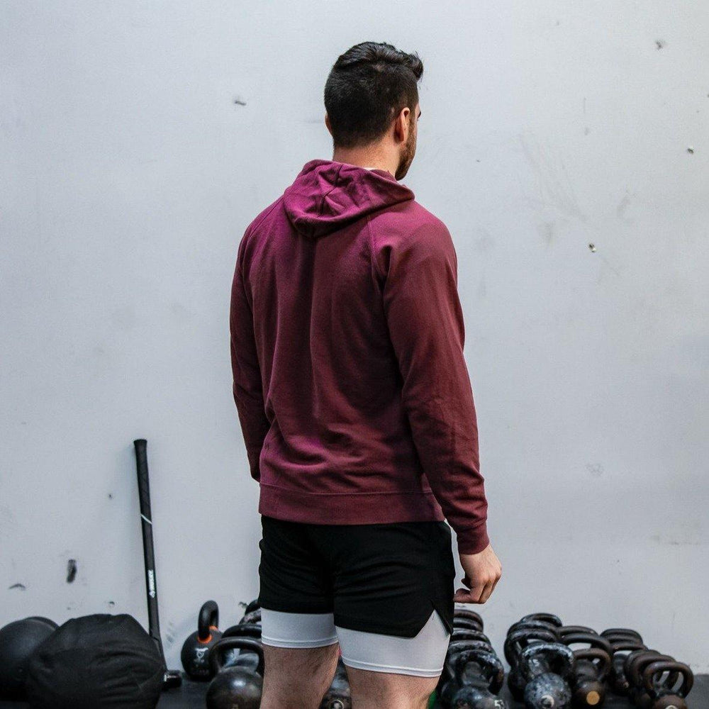Hyped Hooded Pullover- Maroon - HypedApparel.com