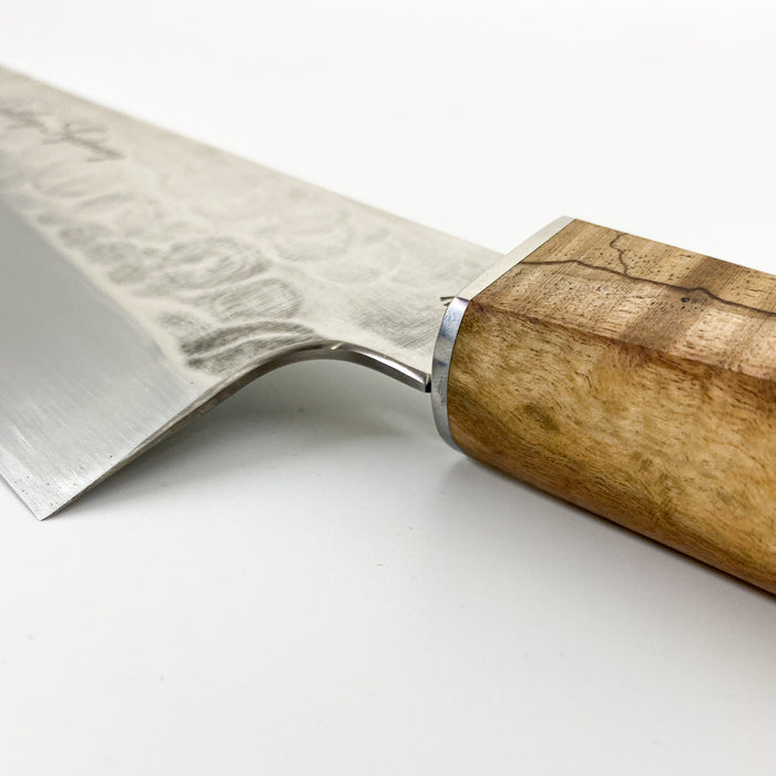 James Oatley 222mm Custom Gyuto w/ Saya - Blond Wood