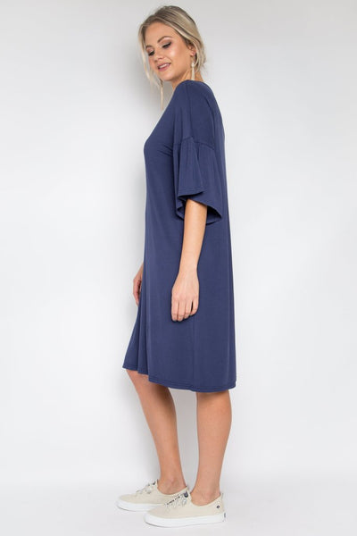 NAVY BAMBOO DRESS