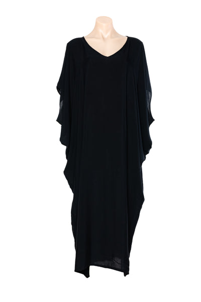 BLACK KAFTAN WITH POCKETS