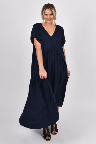NAVY BLUE PEAK MAXI