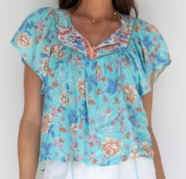 Sadie Top - Blue