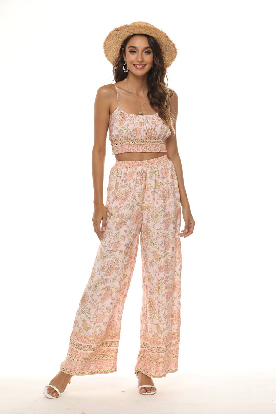 Margie Crop Top - Peach