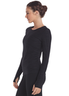 Black - Oxygen Long Sleeve Top