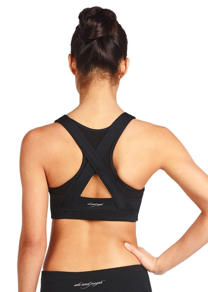 Black - Leo High Tech Sports Bra