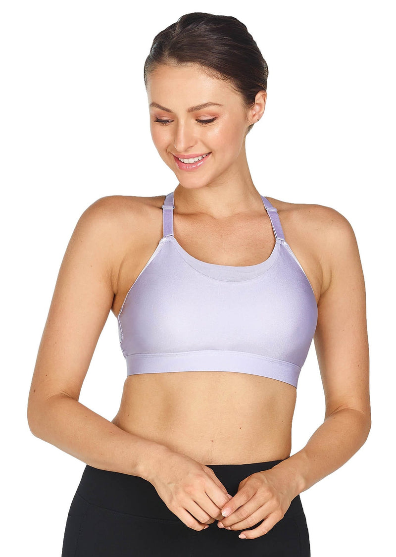 Lilac Shimmer - London Crop Sports Bra