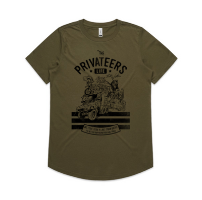 THE TRAVELLING PRIVATEER - LADIES DROP TEE