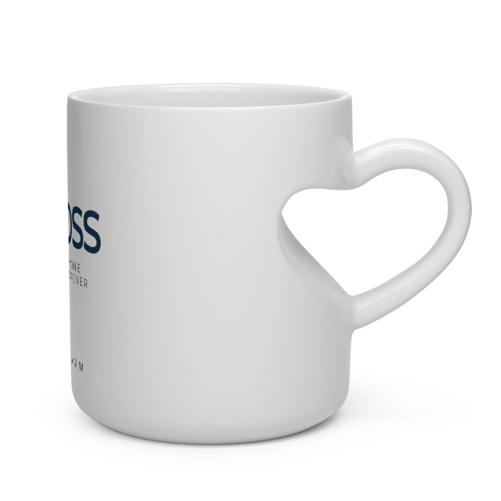 Mom Boss Heart Shape Mug - Eula Blue