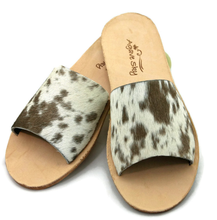 Load image into Gallery viewer, Cowhide Flats - Chocolate
