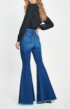 Load image into Gallery viewer, Sadie Distressed Bell Bottoms