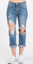 Load image into Gallery viewer, Distressed Boyfriend Jeans