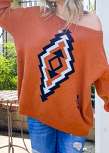 Load image into Gallery viewer, Oversized Aztec Sweater