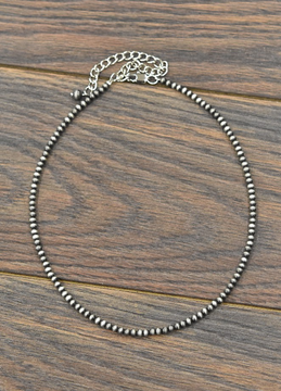 """Faux 16"""" Silver Pearl Necklace"""