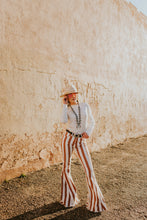 Load image into Gallery viewer, Rusty Striped Bell Bottoms