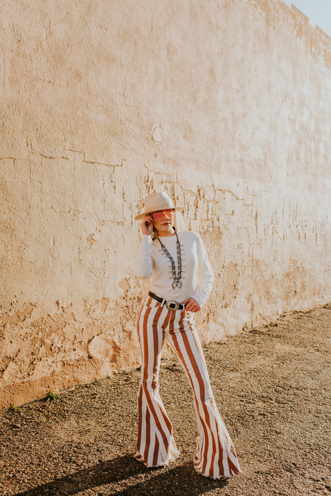 Rusty Striped Bell Bottoms