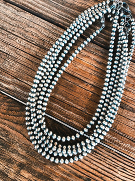 Sterling Silver Navajo Pearl Necklace