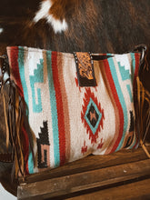 Load image into Gallery viewer, Saddle Blanket Tote Bag - Tan Aztec